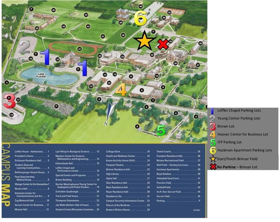 Elizabethtown College Map Elizabethtown College Community   Color Classic Information